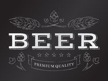 Vector chalk beer emblem Royalty Free Stock Photo