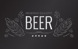 Vector chalk beer emblem Royalty Free Stock Photography