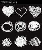 Vector Chalk Circles Stock Image