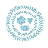 Vector chalk doodle sketch of wreath Royalty Free Stock Photos
