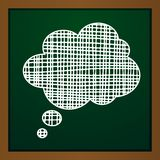 Vector chalk draw callout icon. On greeb background. Eps10 Royalty Free Stock Photos