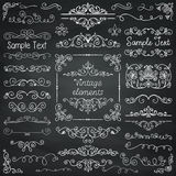 Vector Chalk Drawing Doodle Design Elements Royalty Free Stock Photography