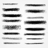 Vector chalk lines or brushes. Stock Image