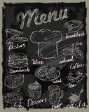 Vector chalk menu Stock Images
