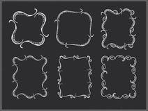 Vector chalk ornate frames. Stock Image