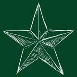 Vector Chalk Sketch Star Stock Photography