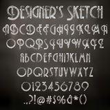 Vector chalk sketched font Stock Photography