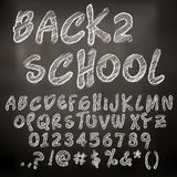Vector chalk sketched letters stock illustration