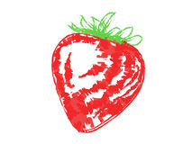 Vector Chalk Strawberry Royalty Free Stock Photography