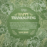 Vector chalk Thanksgiving background. Royalty Free Stock Photo