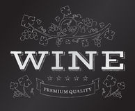 Vector chalk wine emblem Royalty Free Stock Image