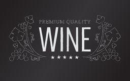 Vector chalk wine emblem Royalty Free Stock Images