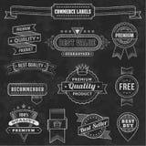Vector Chalkboard Design Elements. A comprehensive set of high detail Design grunge Chalkboard Labels and Elements vector illustration