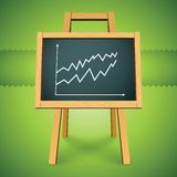 Vector chalkboard with finance business graph Royalty Free Stock Photo