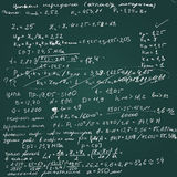Vector chalkboard with handwritten draft calculations. Stock Photos