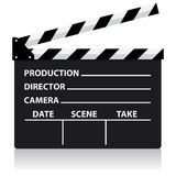 Vector chalkboard movie director slate Royalty Free Stock Photo