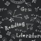 Vector chalkboard school seamless pattern Royalty Free Stock Images