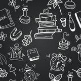Vector chalkboard school seamless pattern Royalty Free Stock Photography