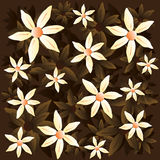 Vector chamomile brown pattern stock illustration