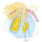 Vector champagne Royalty Free Stock Photos