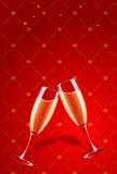 Vector champagne glasses splashing Stock Images