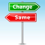 Vector change and same direction sign stock illustration
