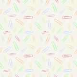 Vector chaotic seamless pastel pattern with elements of colorful clips Stock Image