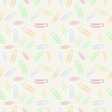 Vector chaotisches nahtloses Pastellmuster mit Elementen von bunten Clipn Stockbild