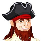 Vector character avatar pirate on isolated Royalty Free Stock Photography