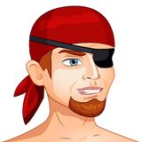 Vector character avatar pirate on isolated. Vector  illustration character avatar pirate on isolated background Stock Image