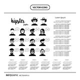 Character cartoon hipster style  info graphic icon. Vector character cartoon hipster style  info graphic icon Royalty Free Stock Image