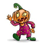 Vector character is a crazy pumpkin. Halloween. Vector character is a crazy pumpkin. For the holiday of Halloween Royalty Free Stock Images