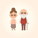 Vector character design cute. Boy and girl Royalty Free Stock Photo