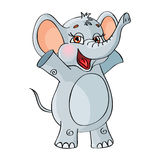 Vector character. Elephant. On a white background. Stock Photography