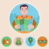 Vector character in flat style Stock Images
