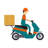 Vector character logistic and shipping business. Business people logistic shipping concept Royalty Free Stock Image
