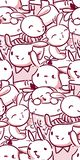 Vector character rabbit baby seamless pattern pink stock illustration