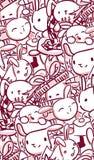 Vector character rabbit baby seamless pattern pink. Vector character rabbit baby seamless pattern royalty free illustration