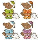 Vector character. Sleepy bear pajamas. Stock Photos