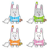 Vector character. Sleepy bunny pajamas. Royalty Free Stock Images