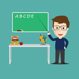Vector of Character  teacher cartoon education concept Royalty Free Stock Photos