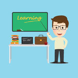 Vector of Character  teacher cartoon education concept Royalty Free Stock Images