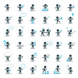 Vector Characters in Different Situations Royalty Free Stock Photos
