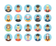 Vector characters and persons icons collection. Royalty Free Stock Photos