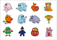 Vector charactors. Vector animal and other charactors #1 stock illustration