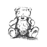 Vector charcoal bear Royalty Free Stock Photo