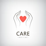 Vector charity, medical, care, help logo, icon Stock Photos