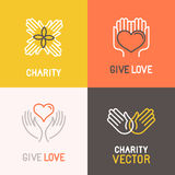 Vector charity and volunteer concepts Stock Photography