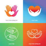 Vector charity and volunteer concepts Royalty Free Stock Photography