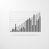 Vector chart diagram graph vector illustration Stock Images